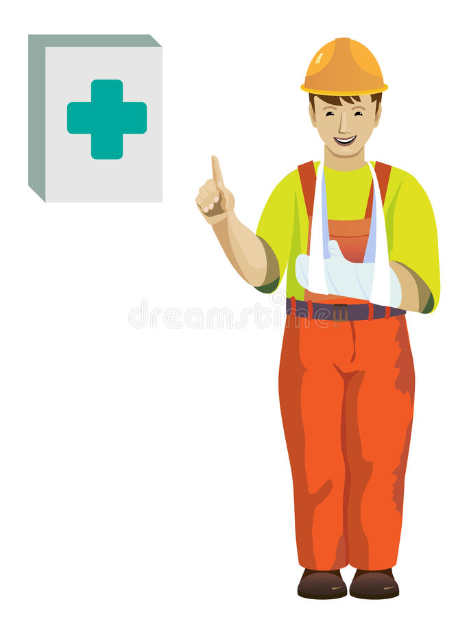 Working hand injury stock images