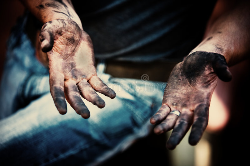 Working hands stock images