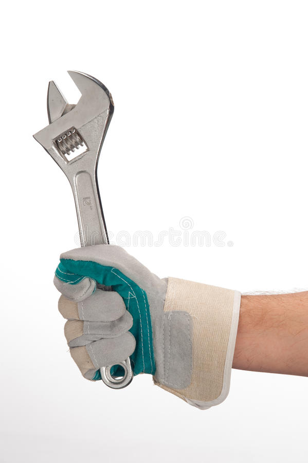 Download Working Hands With Monkey Wrench Stock Photo - Image: 14854682