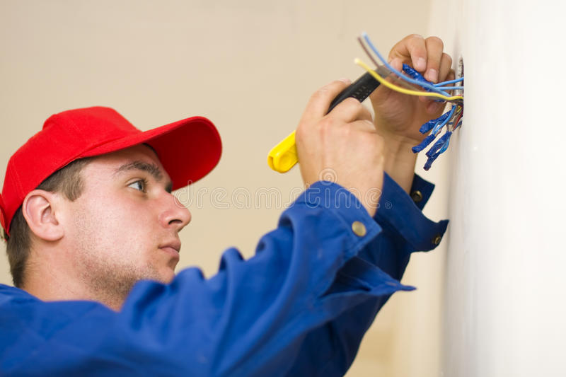 Working handyman stock photos