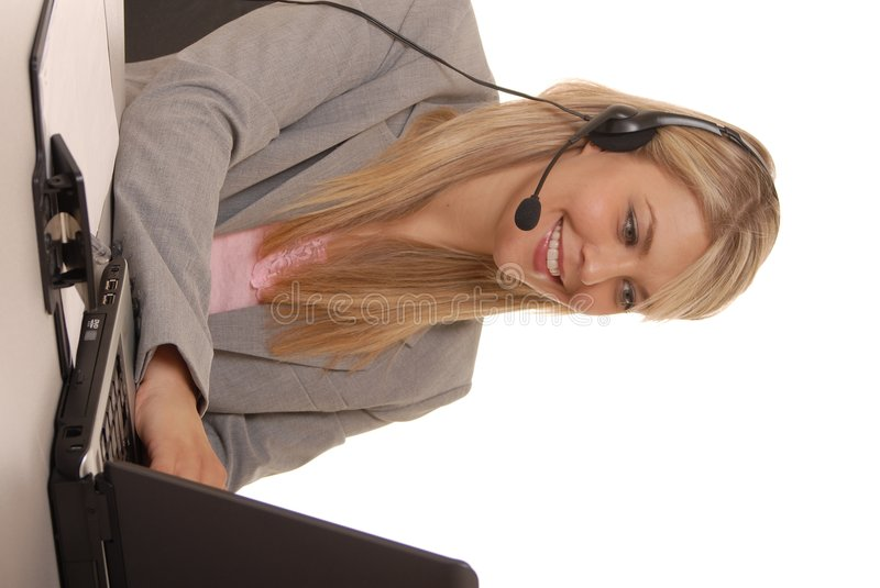 Download Working Help Desk Two stock image. Image of isolation - 1017889