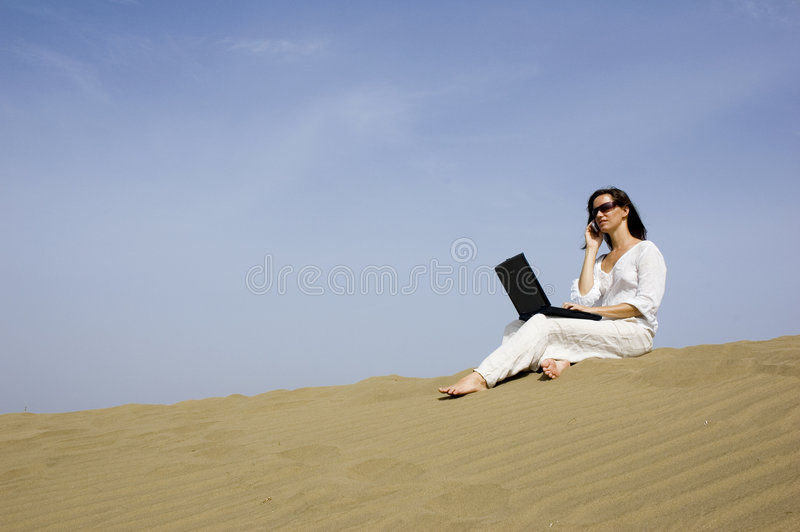 Working holiday5 stock photography