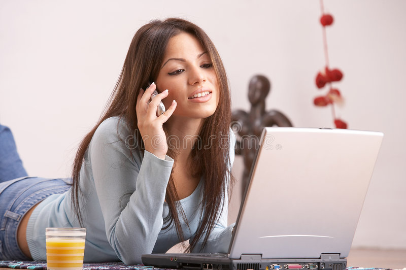 Working from home royalty free stock photo