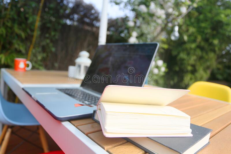 Working from home stock image