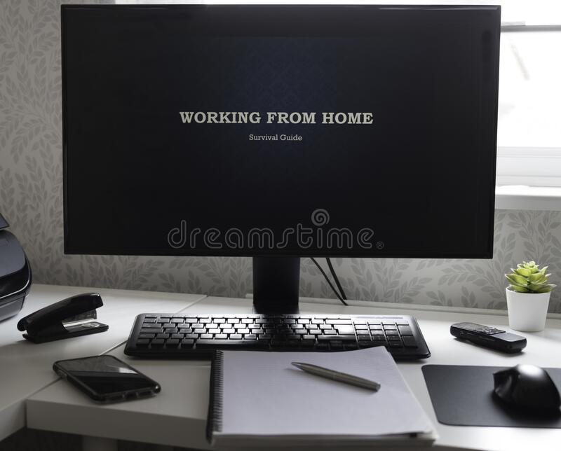 Working from home, survival guide royalty free stock photos