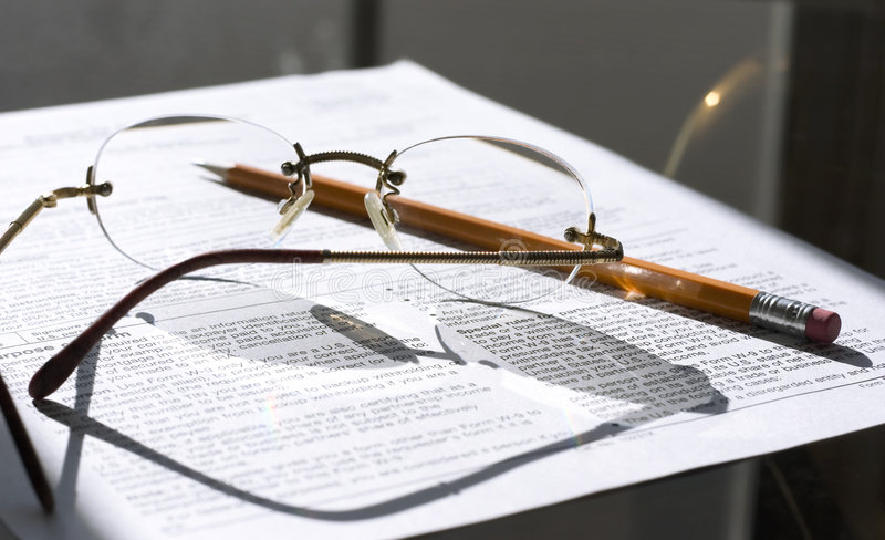 Download Working On Important Papers (taxes) Stock Photo - Image of glasses, important: 468764