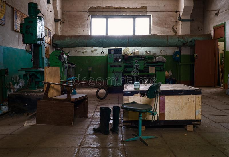 Working interior. Life style. Industrial interior stock images
