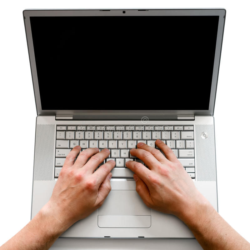 Download Working on laptop stock image. Image of keyboard, button - 24390923