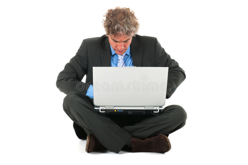 Download Working with laptop stock image. Image of looking, serious - 27647657
