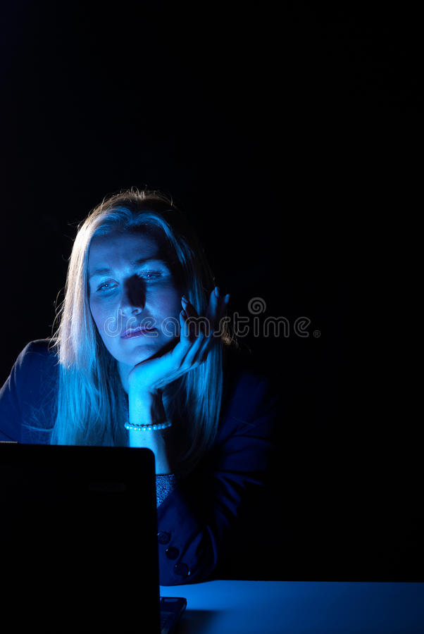 Download Working late stock image. Image of chin, blond, space - 15563823