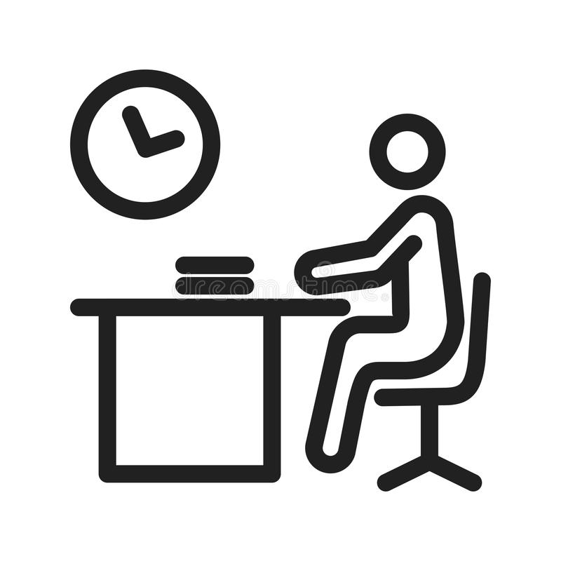Working Late royalty free illustration