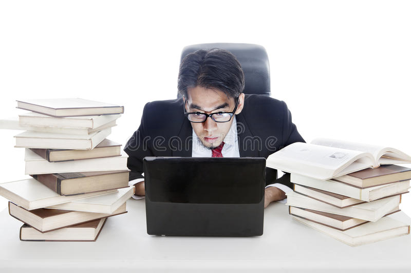 Download Working late at office stock photo. Image of object, looking - 26414404