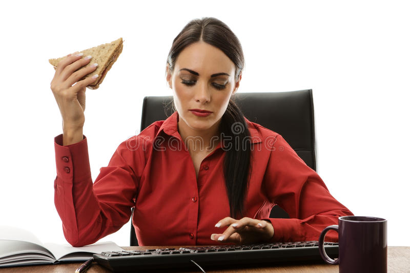 Working lunch royalty free stock image