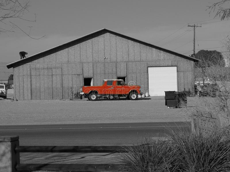 A working man on a barn royalty free stock photography