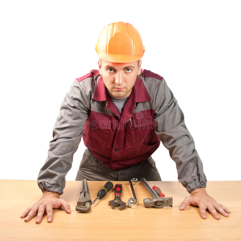 Download Working man with tools stock photo. Image of foreman - 15462858