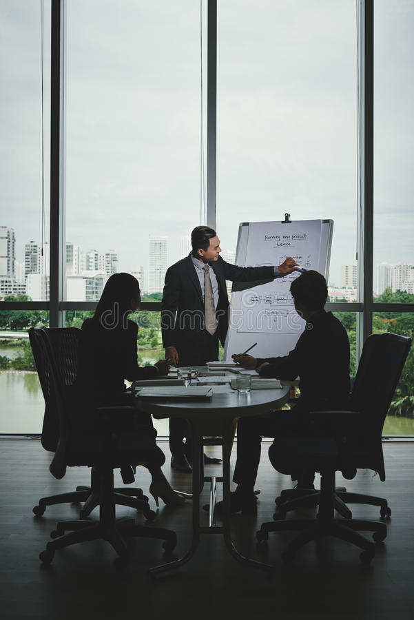 Working Meeting in Boardroom stock images
