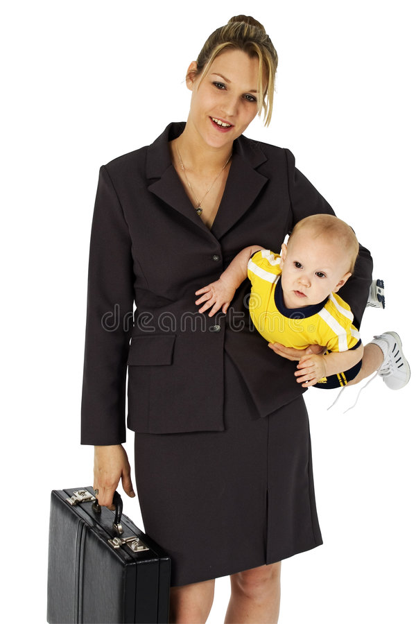 Working Mom royalty free stock photo