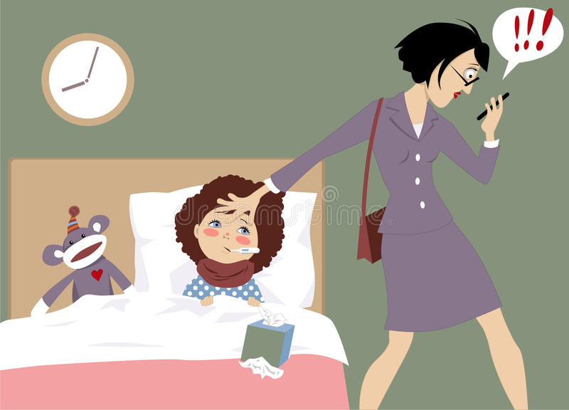 Working mom vector illustration