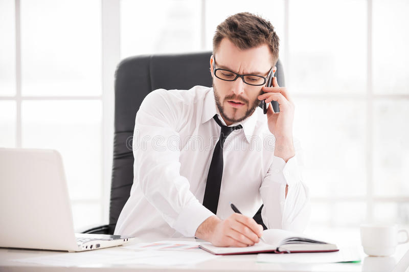 Download Working moments. stock image. Image of male, communication - 38431697