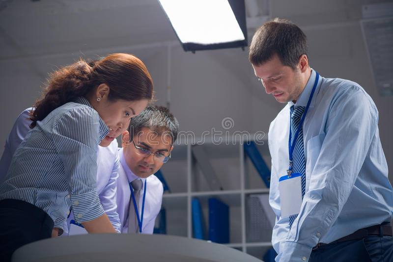Working at the office stock photos