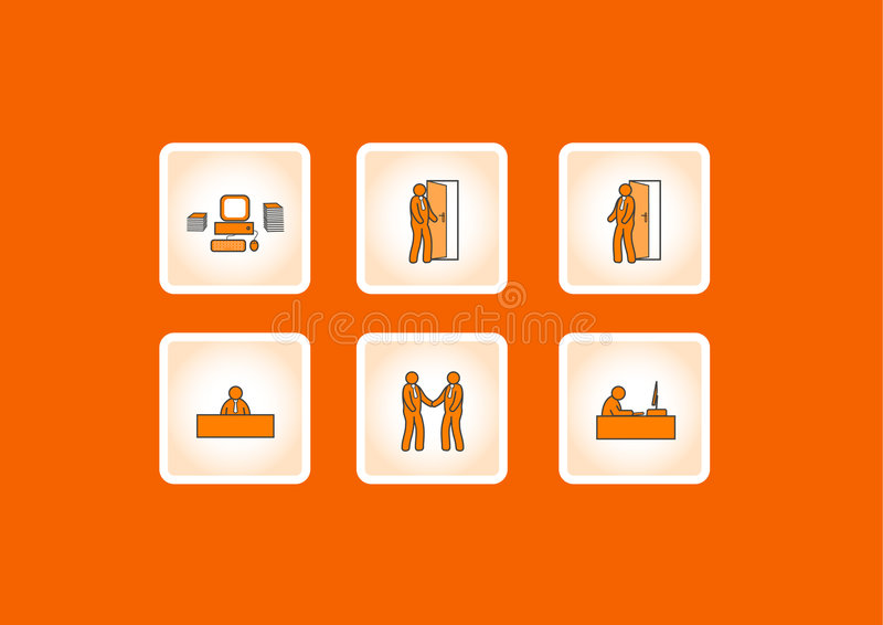 Working office icons. Vector vector illustration