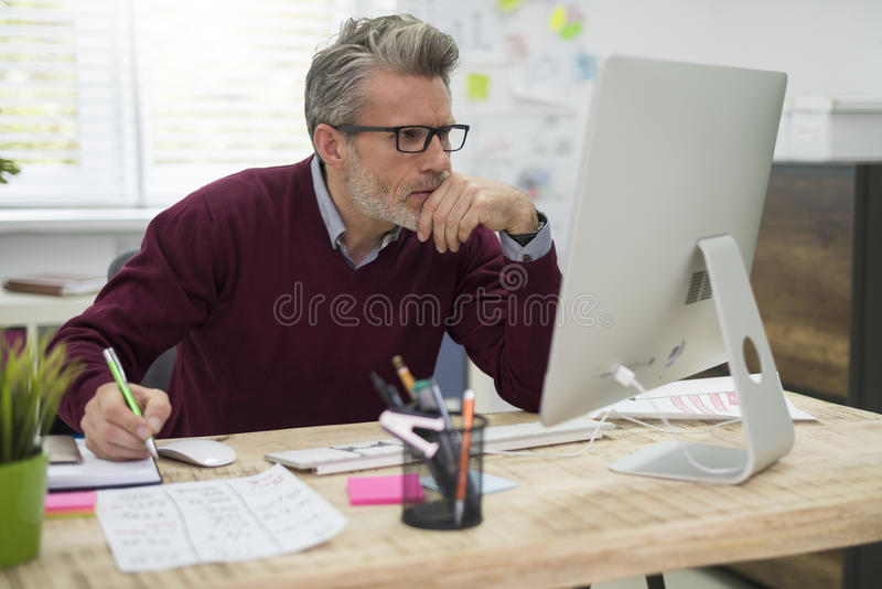 Working in office stock photography