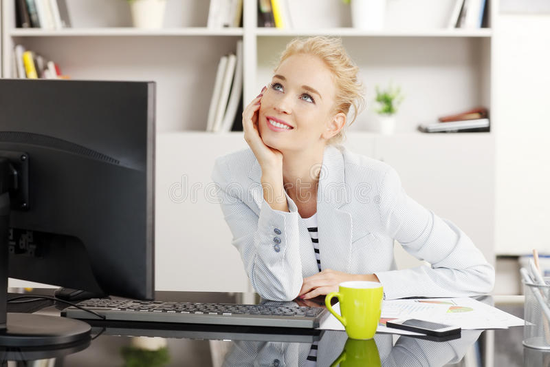 Working at office stock photography