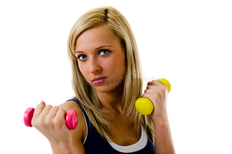 Download Working out with dumbbell stock photo. Image of activity - 23923610