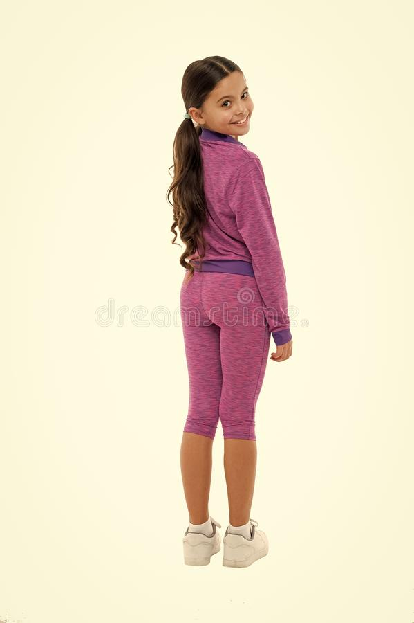 Working out with long hair. Sport for girls. Guidance on working out with long hair. Deal with long hair while royalty free stock image
