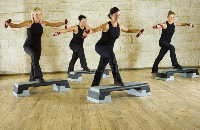 Working out women stock image