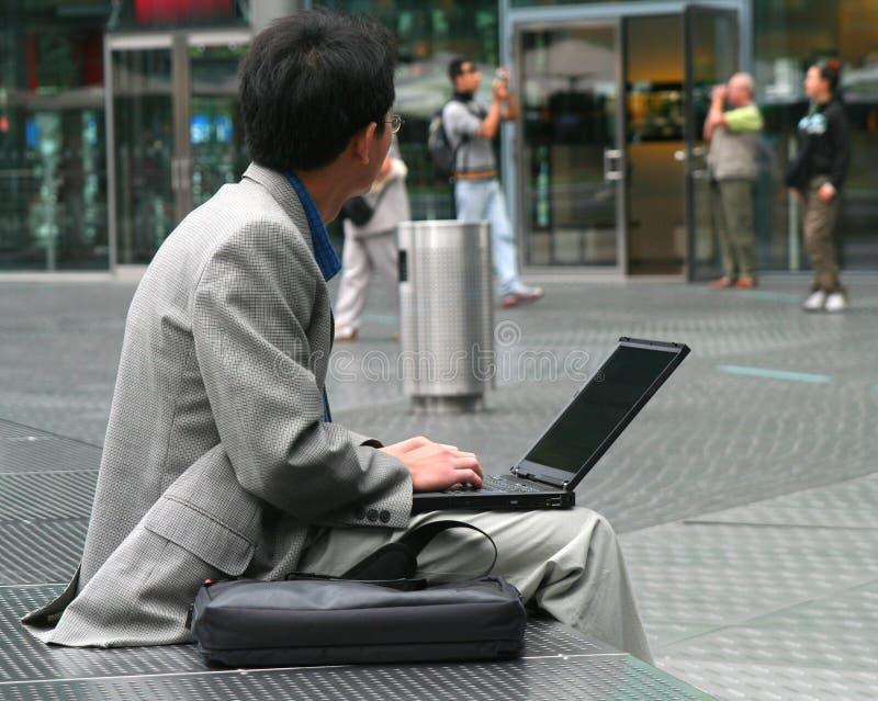 Working outdoors stock photos