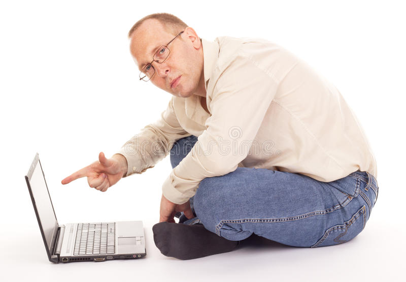 Download Working Over The Internet At Home Stock Image - Image: 26605115