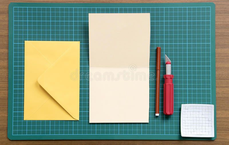 Working with paper royalty free stock photo