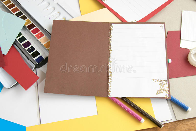 Working with paper royalty free stock images