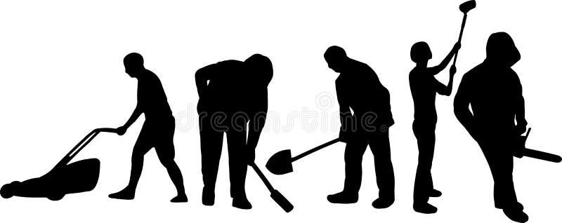 Working people stock illustration