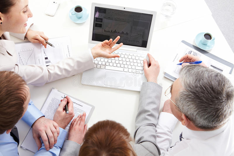 Download Working people stock photo. Image of laptop, discussing - 21260056