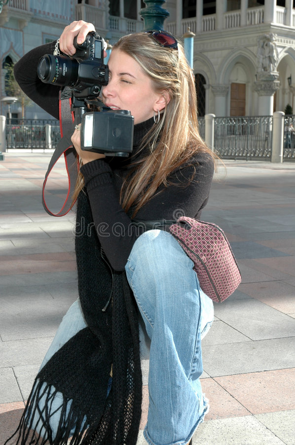 Free Working Photographer Stock Photography - 1599452