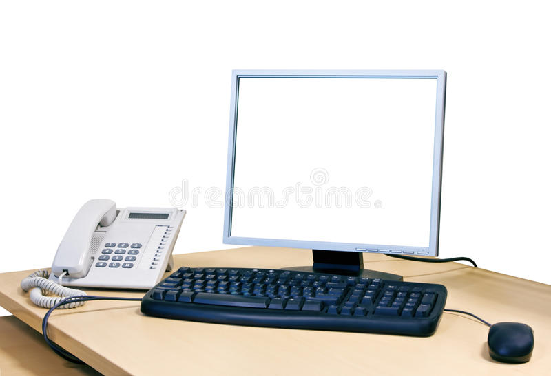 Download Working Place With Computer Stock Photo - Image: 23164358