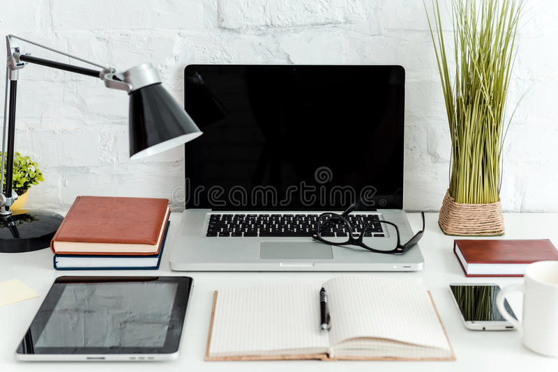 Working place with what you need. royalty free stock images