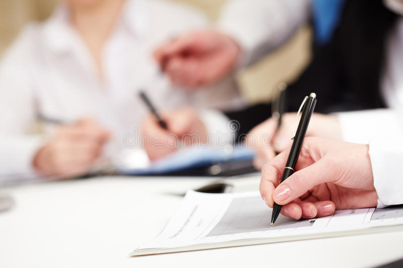 Download Working at plan stock photo. Image of interview, letterhead - 14815630