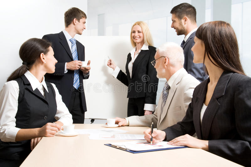 Download Working positively stock photo. Image of adult, coach - 11940328