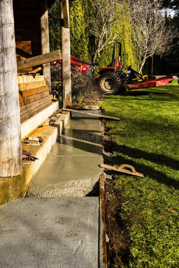Concrete work in progress, new slab royalty free stock photos