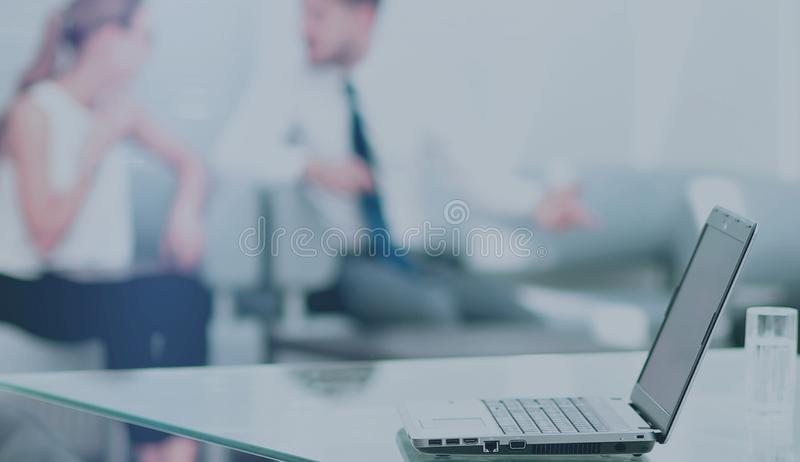 Working process in a modern office stock images