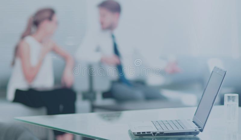 Working process in a modern office royalty free stock photography
