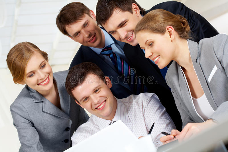 Working at project stock images