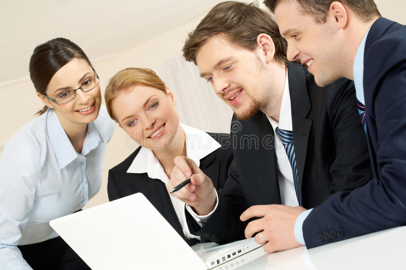 Working at project stock image