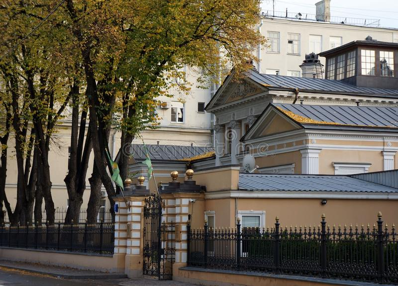 Working residence of the Patriarch of Moscow and All Russia stock photos