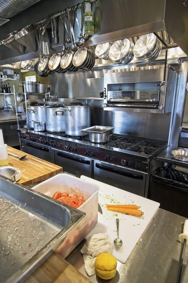 Working restaurant kitchen royalty free stock image