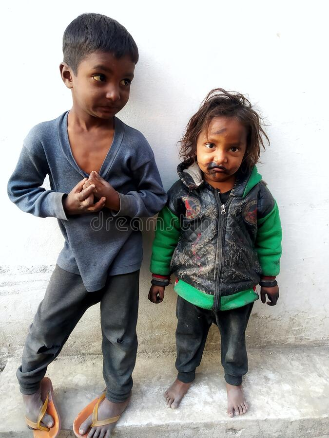 Child Labour In India. Indian Children.Boy And Girl. royalty free stock images