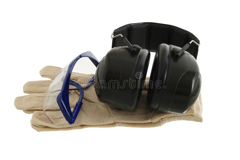 Working safety set royalty free stock images
